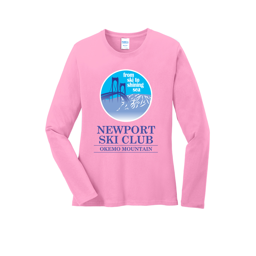 NEWPORT SKI CLUB - BRIDGE - W'S L/S COTTON T-SHIRT
