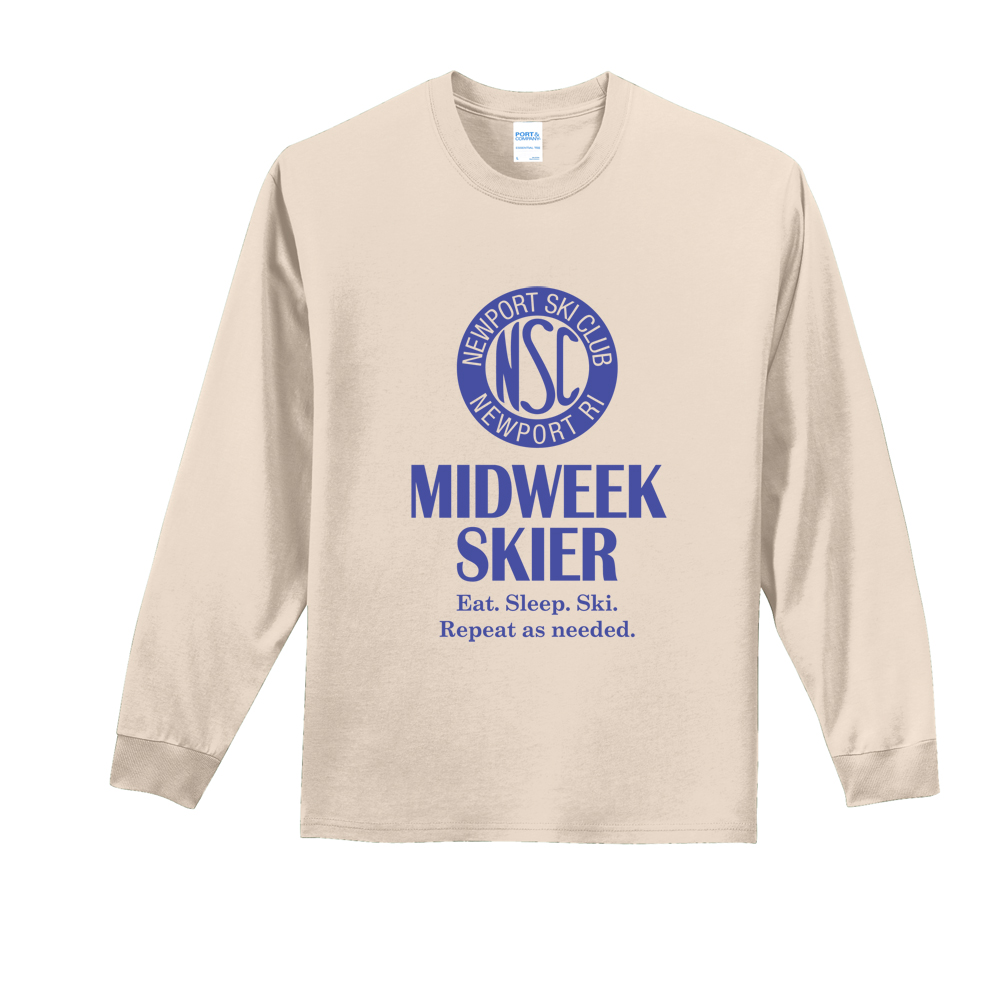 NEWPORT SKI CLUB - MIDWEEK - M'S L/S COTTON TEE