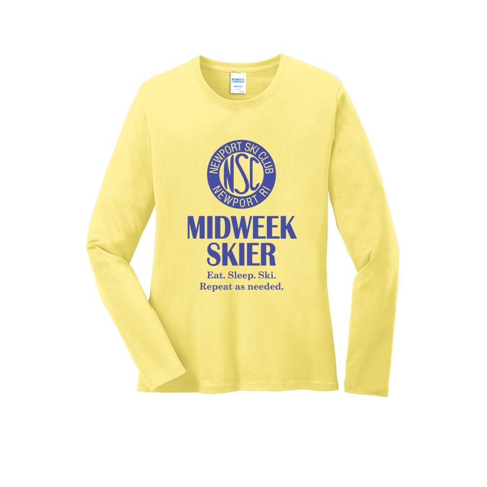 NEWPORT SKI CLUB - MIDWEEK - W'S L/S COTTON T-SHIRT