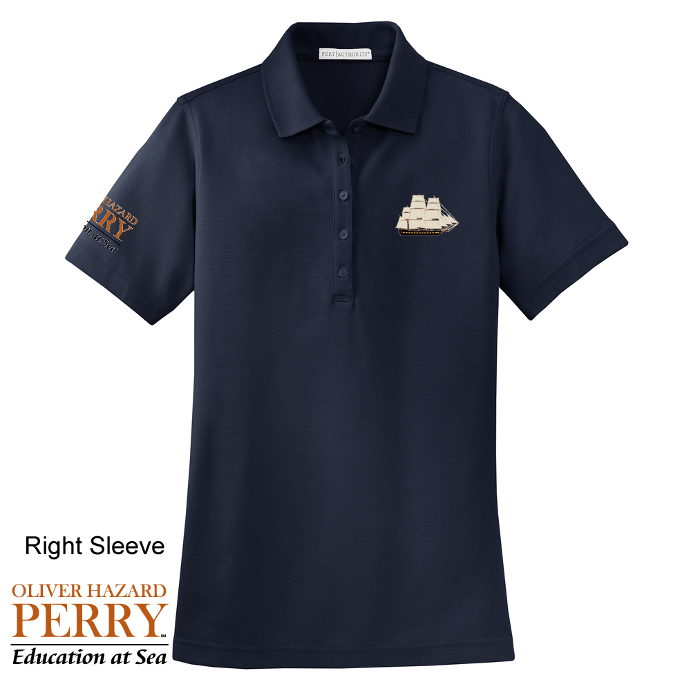 OLIVER HAZARD PERRY - W'S COTTON POLO