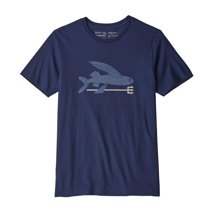 PATAGONIA MEN'S FLYING FISH ORGANIC T-SHIRT (39145)