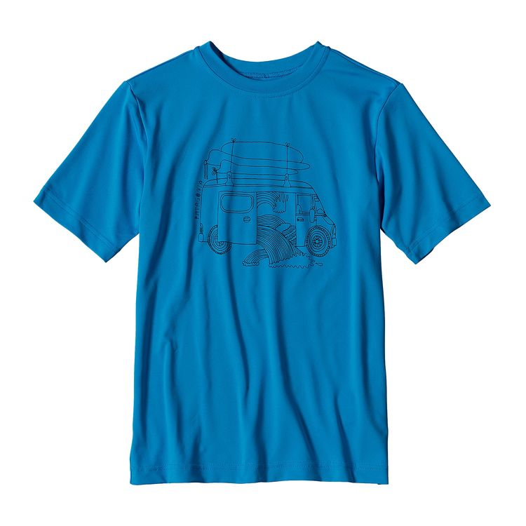 PATAGONIA BOYS' CAP SILKWEIGHT GRAPHIC TEE (62452)