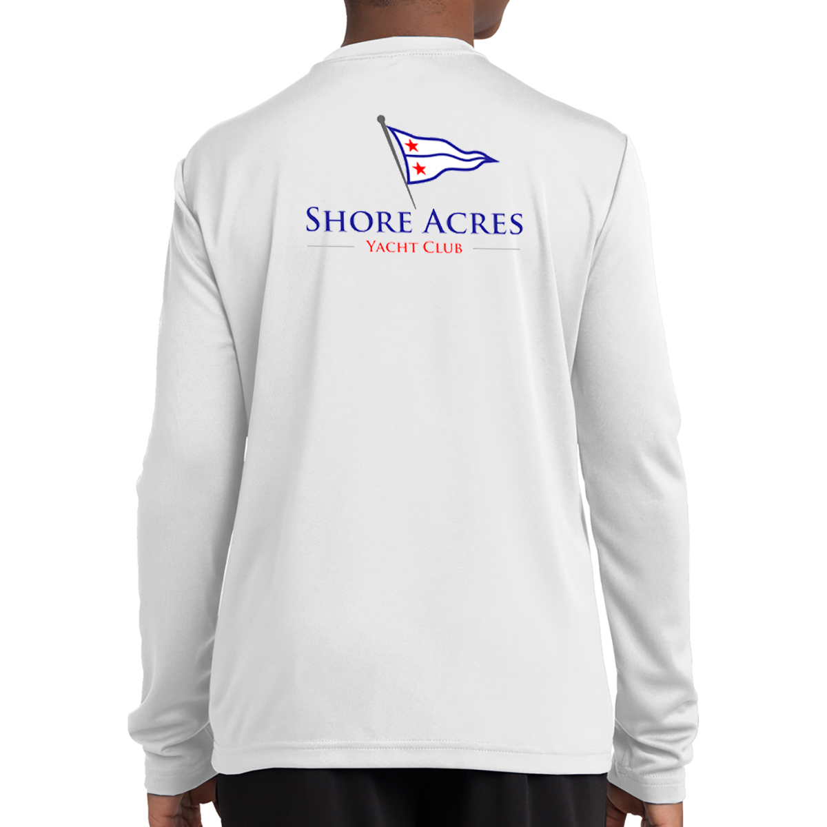 SHORE ACRES YC - K'S L/S TECH TEE