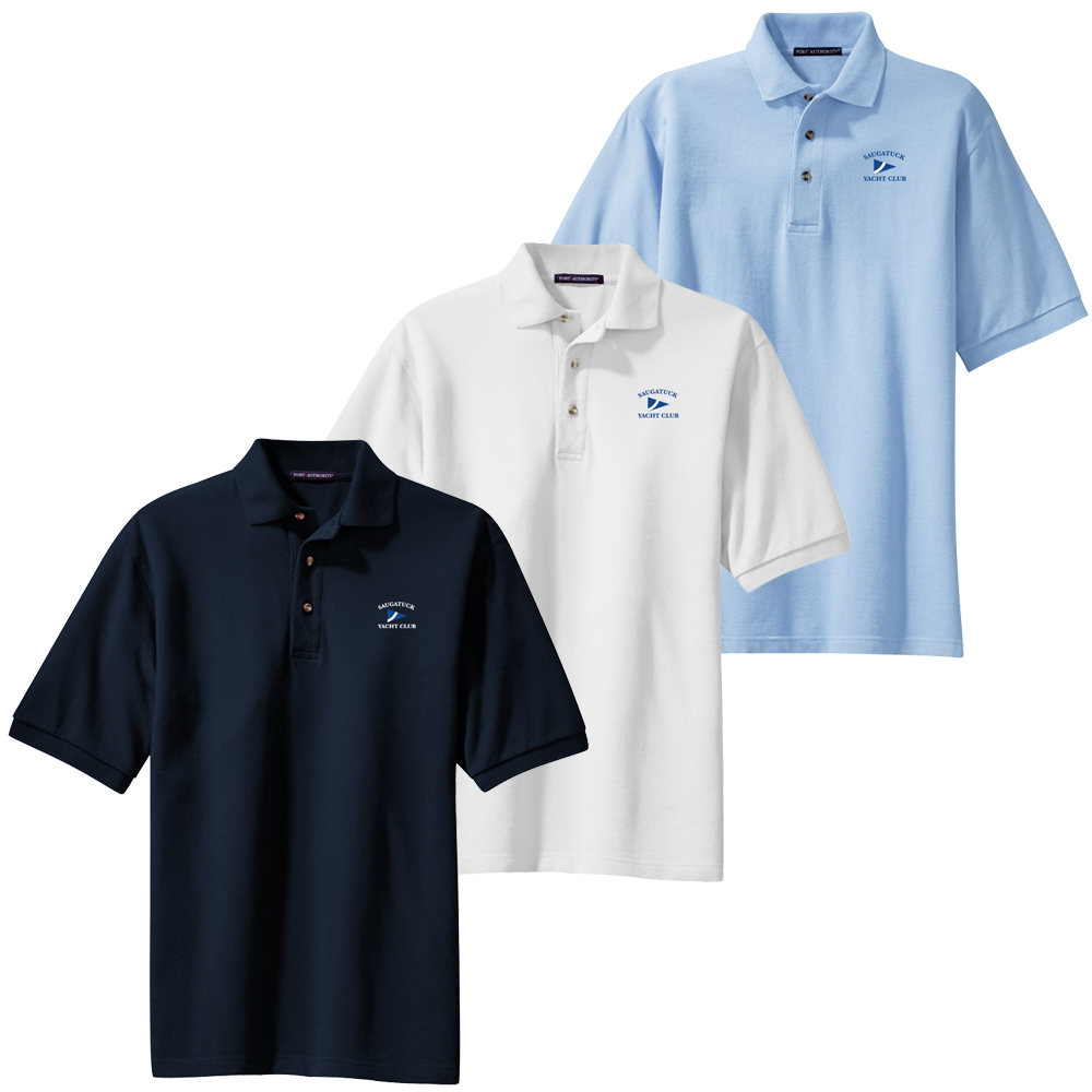 SAUGATUCK YACHT CLUB M'S COTTON POLO