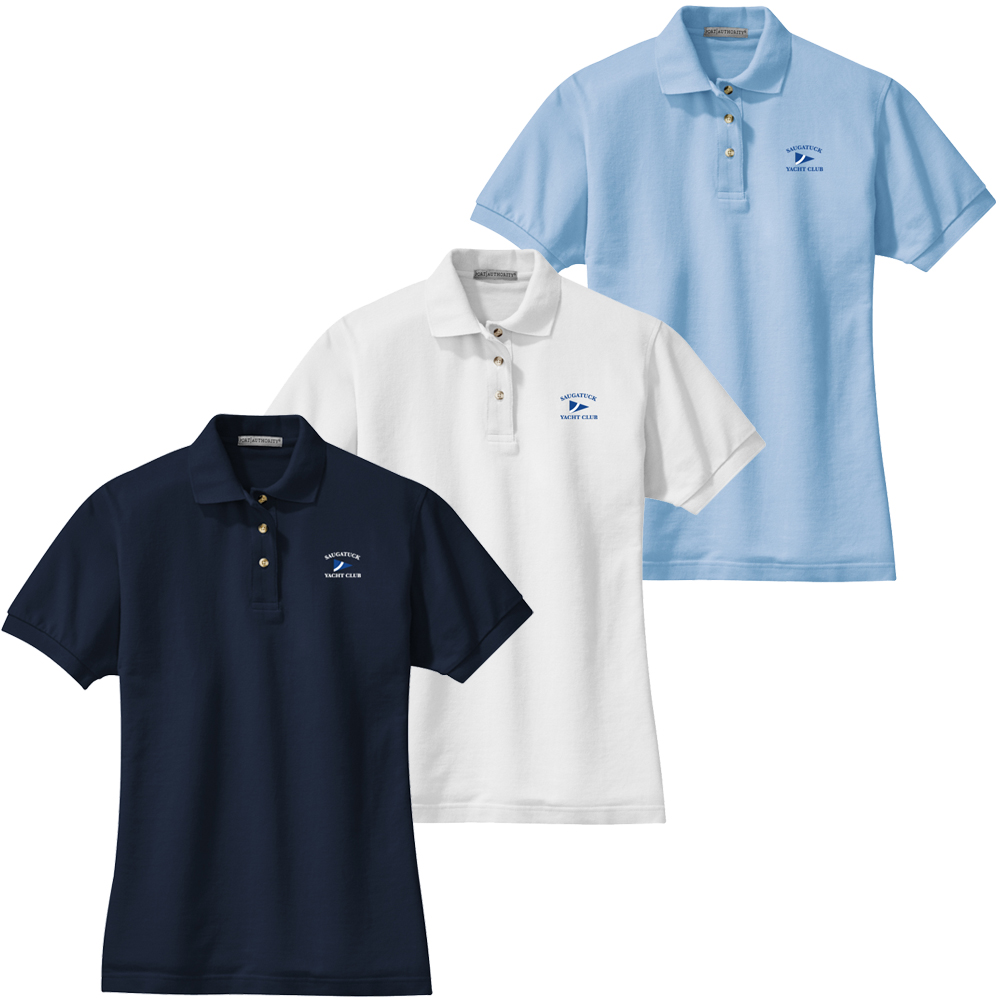 SAUGATUCK YACHT CLUB W'S COTTON POLO