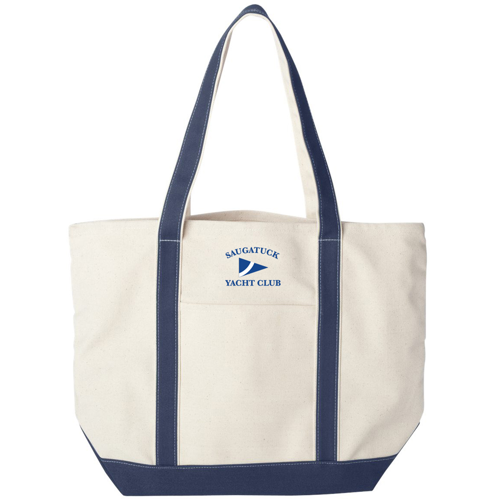 SAUGATUCK YACHT CLUB CANVAS TOTE