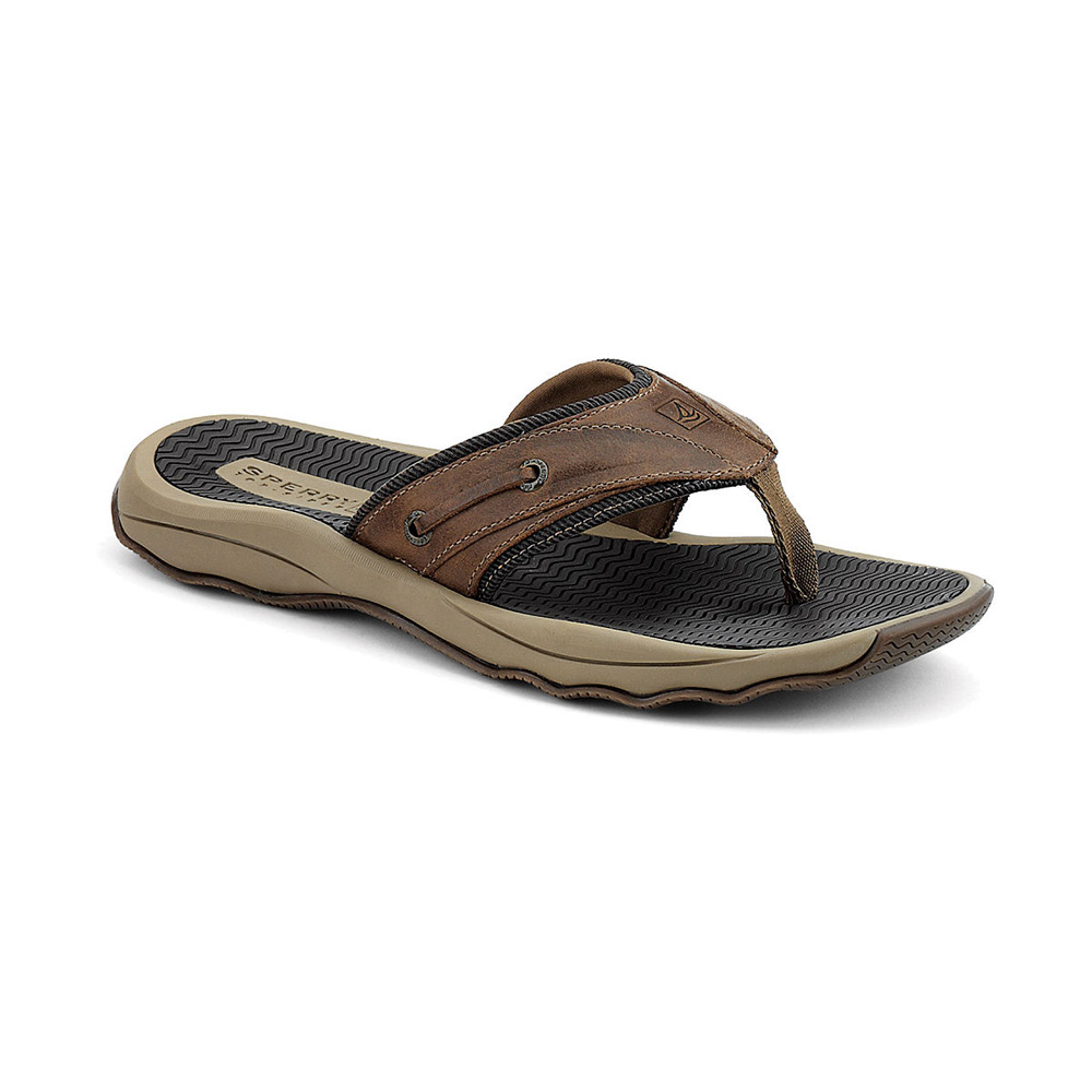 SPERRY OUTER BANKS THONG BROWN (1277011)