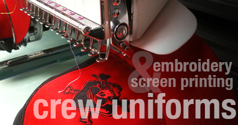 embroidery screen printing crew uniforms