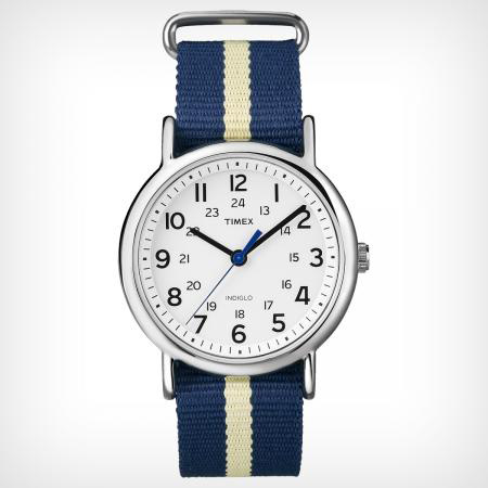 TIMEX WEEKENDER SLIP THRU YELLOW AND BLUE (T2P429J)