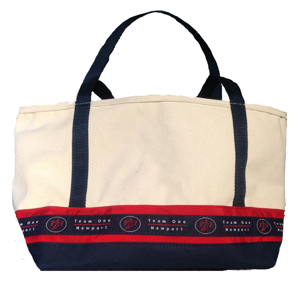 TEAM ONE ZIPPERED CANVAS TOTE