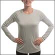 VAPOR APPAREL LADIES SOLAR PERFORMANCE L/S (M750)