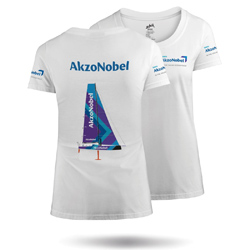 ZHIK TEAM AKZONOBEL - WOMENS COTTON TEE (MTE-0725-W-WHT)