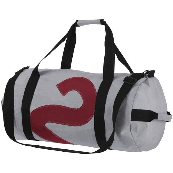 Bainbridge Sailcloth Barrel Bag - Grey, 75L (BMZ1003)