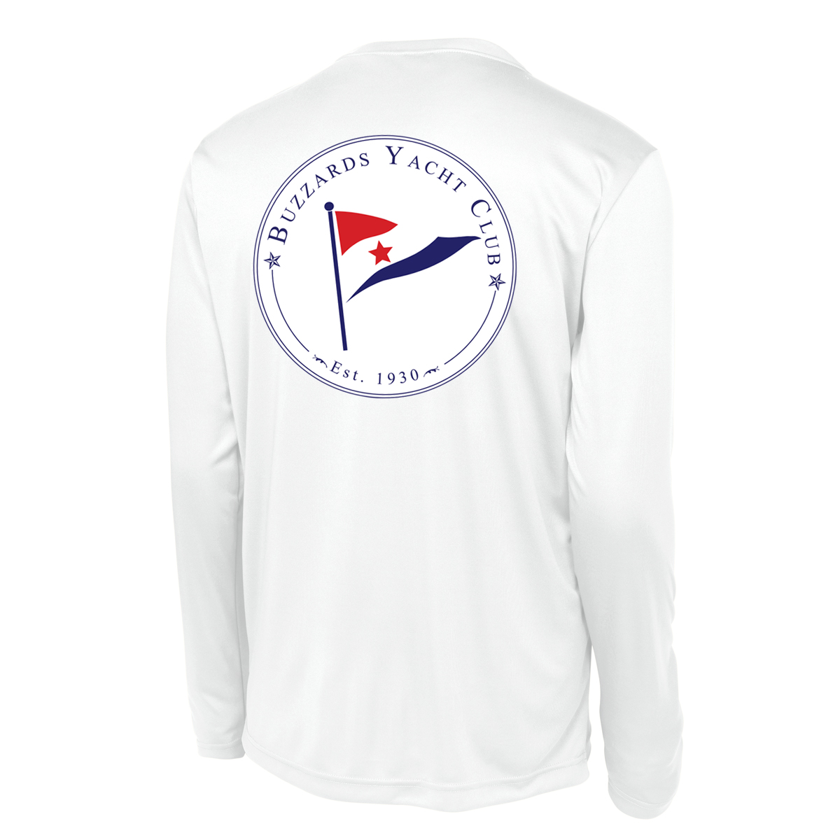 Buzzards Yacht Club - Men's Long Sleeve Tech Tee (BUZ214)