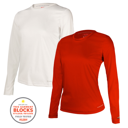 DRY FREAK WMNS CREW NECK LONG SLEEVE (100DP)