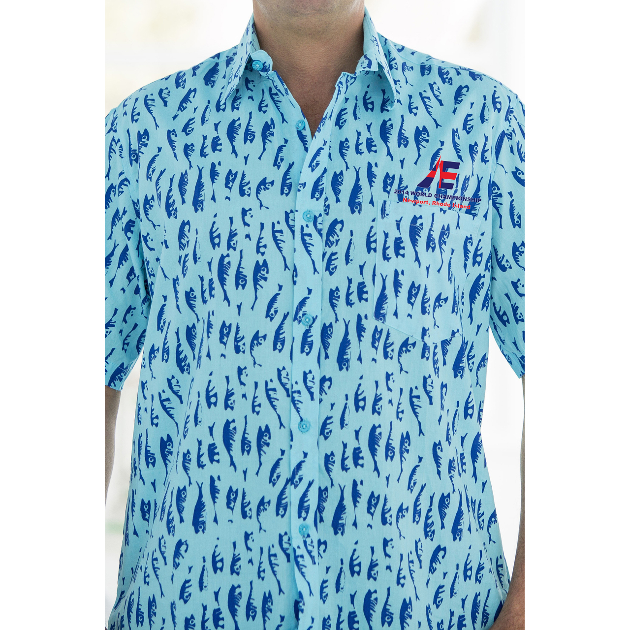 ETCHELL WORLDS M's SHELTER ISLAND S/S BUTTON DOWN SHIRT