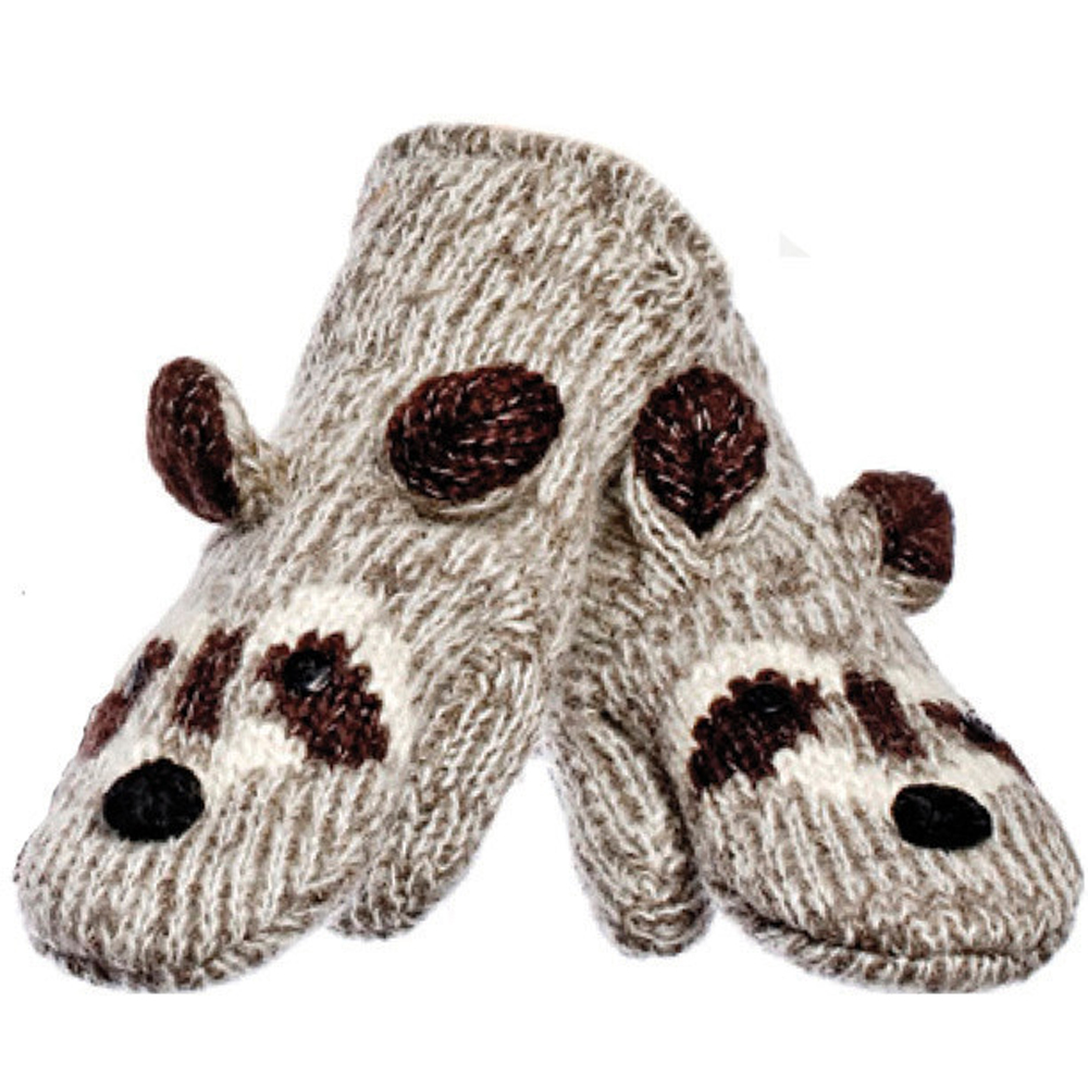 KNITWITS ORIGINALS ROBBIE THE RACCOON MITTENS (A2469)