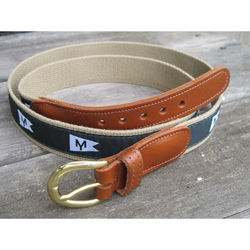 MORRIS YACHTS - LEATHER TAB BELT