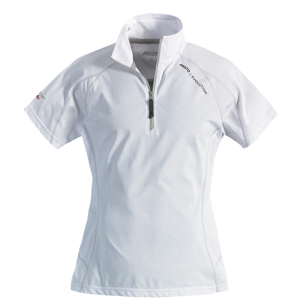 LADIES EVOLUTION SUNBLOCK ZIP NECK POLO (SE0313)