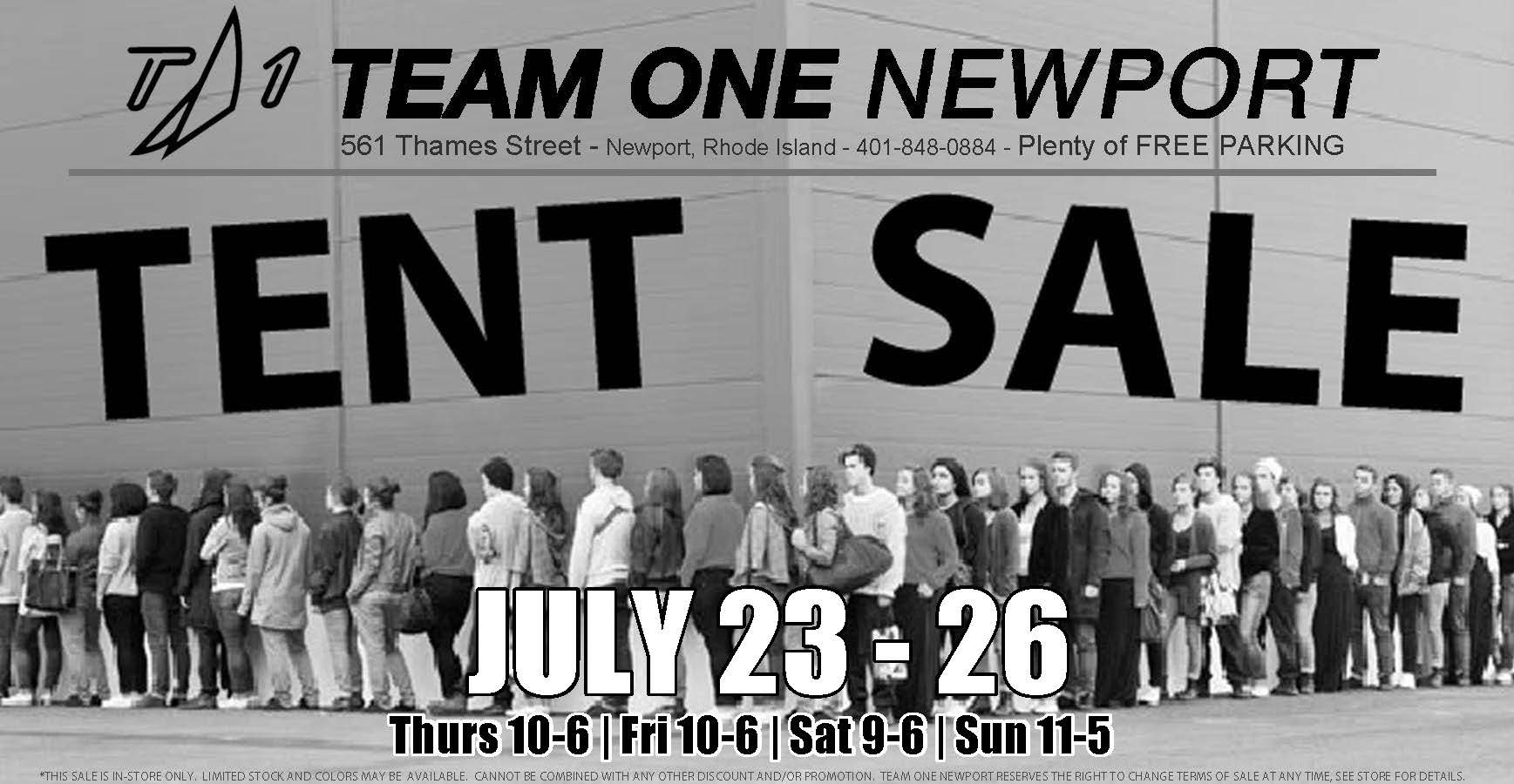 Team One Newport Web Specials/Sale Page
