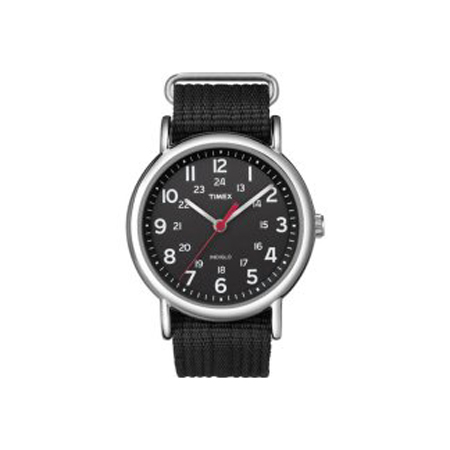TIMEX WEEKENDER SLIP THROUGH ALL BLACK (T2N647)