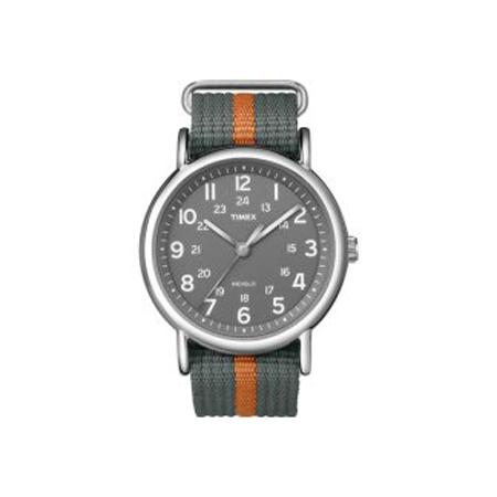 TIMEX WEEKENDER SLIP THROUGH GREY-ORANGE (T2N6499J)