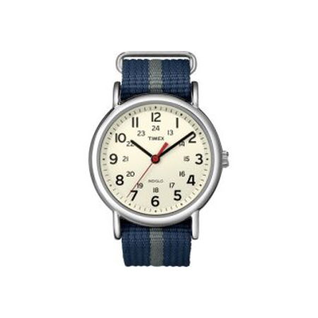 TIMEX WEEKENDER SLIP THROUGH BLUE AND GREY (T2N6549J)